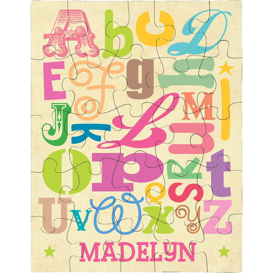Personalized Girl Alphabet Puzzle