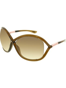03d8506a5c Product Image Tom Ford Women s Gradient Whitney FT0009-692-64 Brown Round  Sunglasses