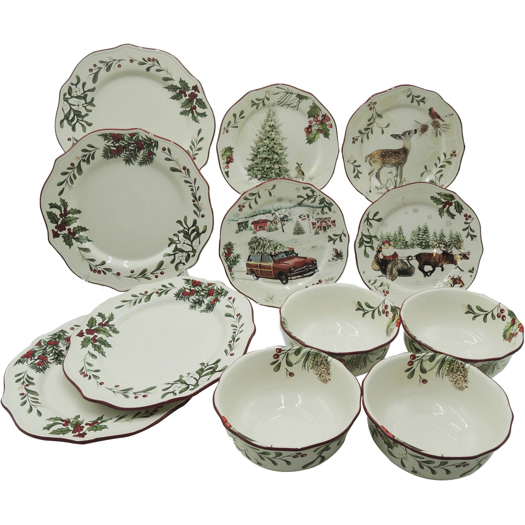 Ordinaire Better Homes And Gardens Heritage 12 Piece Dinnerware Set   Walmart.com