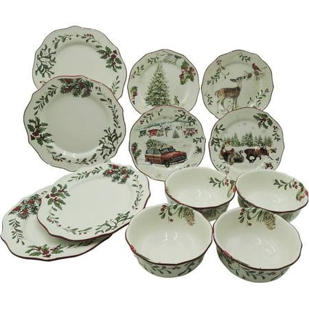 Better Homes and Gardens Heritage 12 Piece Dinnerware Set