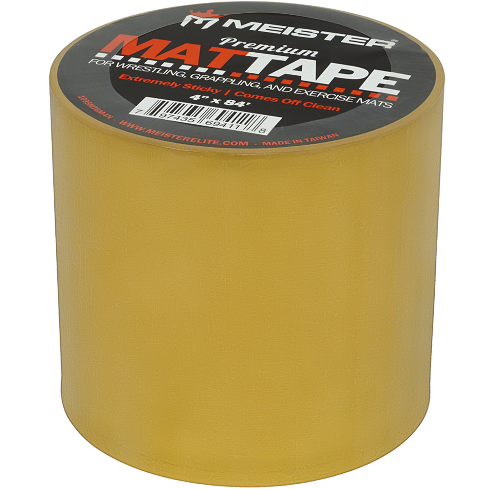 """Meister Premium Mat Tape for Wrestling, Grappling and Exercise Mats - Clear - 4"""" x 84ft - 3 Rolls"""
