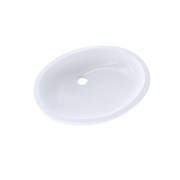 TOTO® Dantesca® Oval Undermount Bathroom Sink with CeFiONtect™, Cotton White - LT597G#01