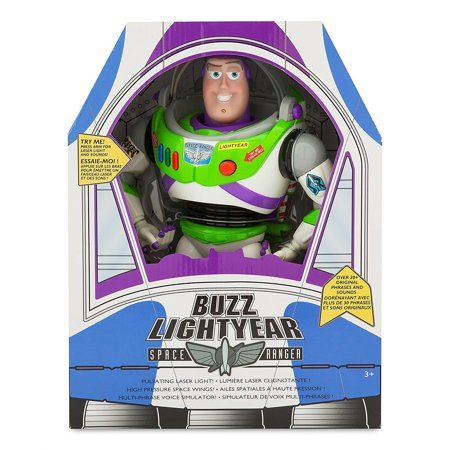 "Disney New version Buzz Lightyear Talking Action Figurer 12"" (30 original phrases and sounds)"