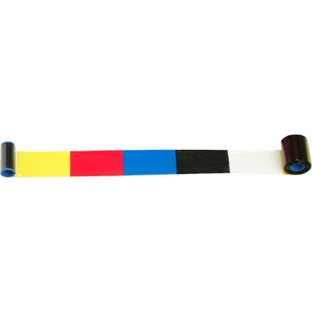 Zebra Technologies 800015-140 C Series 5 Panel Color Card Printer Ribbon, YMCKO, 200 Images