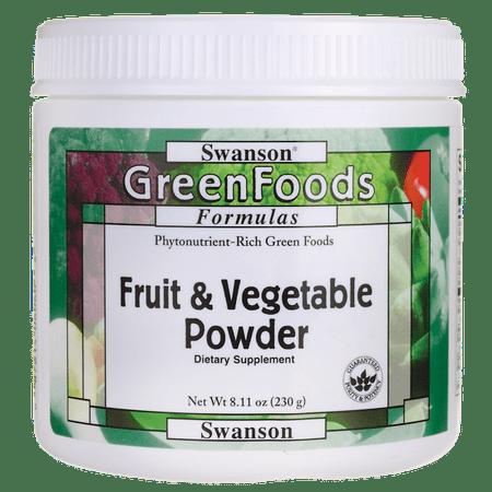 Swanson Fruit & Vegetable Powder 8.11 oz Pwdr