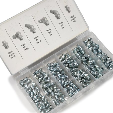 Hydraulic Tube Fittings - Neiko 50463A 110-Piece SAE Hydraulic Grease Fitting Kit