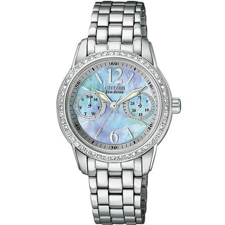 Eco-Drive Silhouette Crystal Ladies Watch FD1030-56Y (Citizen Crystal)