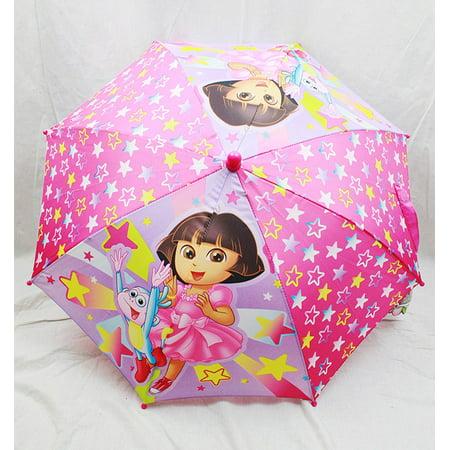 Umbrella - Dora The Explorer - Dora & Boots the Monkey Pink Stars New de507