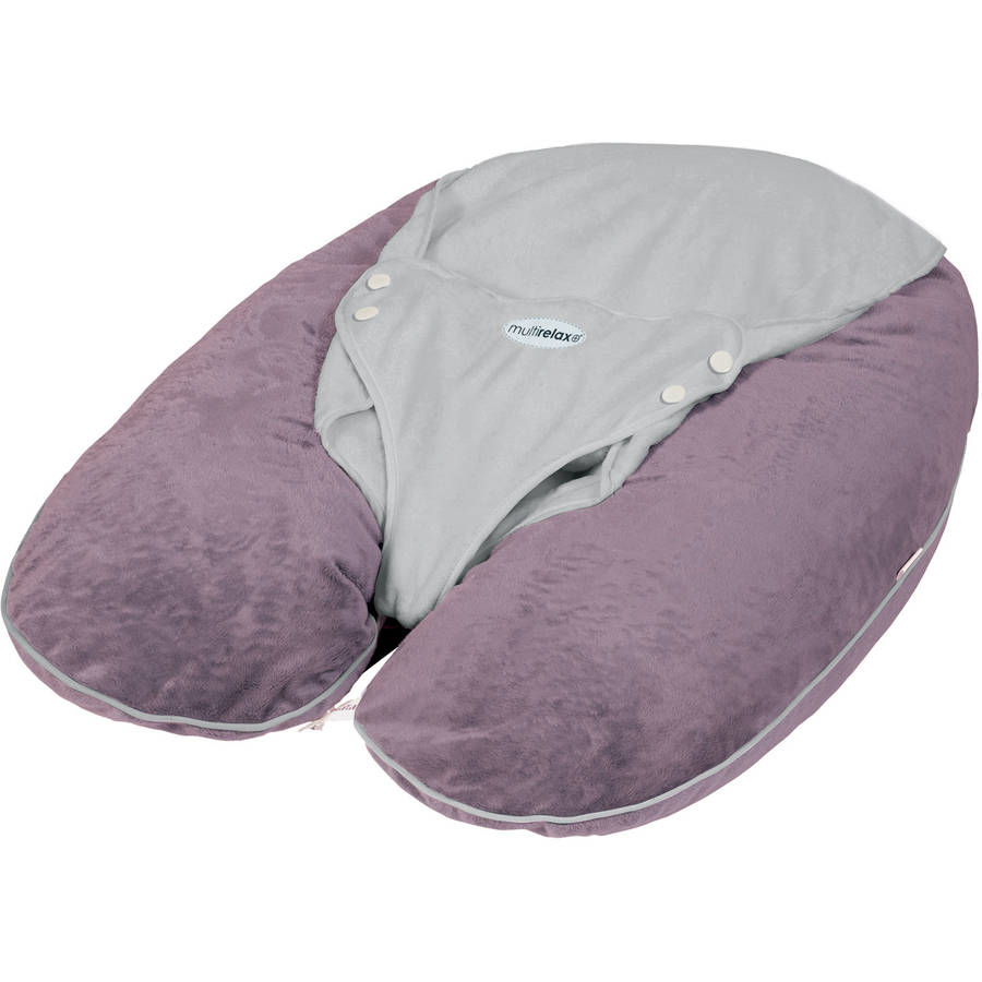 CANDIDE Multirelax+ 3-in-1 Maternity Pillow and Infant Seat- Jersey Cotton- Plum/Grey