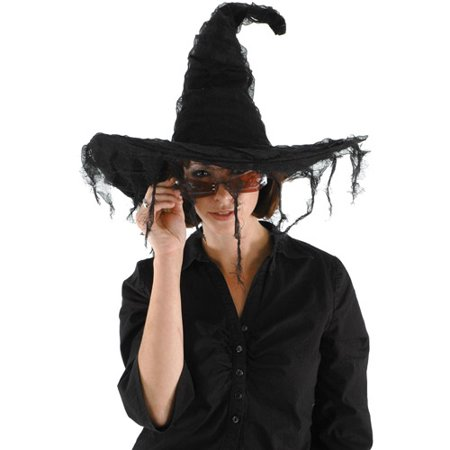Grunge Witch Hat Adult Halloween Accessory](Witch Hat With Hair)