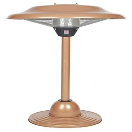 Fire Sense Copper Finish Table Top Round Halogen Patio Heater - Fire Sense Copper Finish Table Top Round Halogen Patio Heater