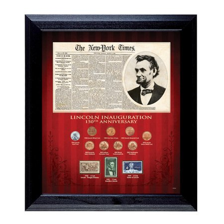 American Coin Treasures New York Times Lincoln Inauguration 150th Anniversary Framed Memorabilia