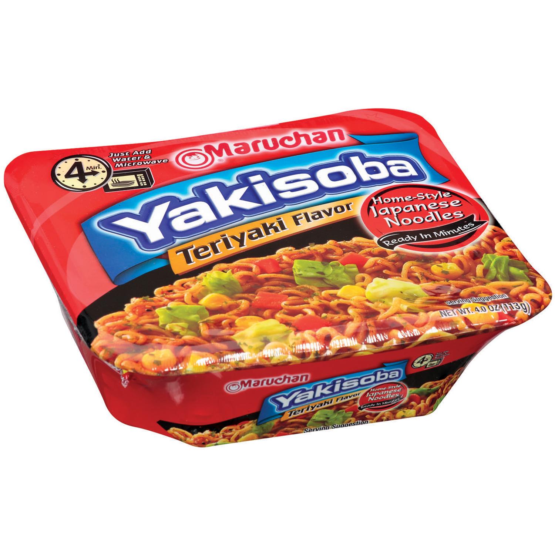 Maruchan�� Yakisoba Teriyaki Beef Flavor Noodles 4 oz. Microwavable Bowl