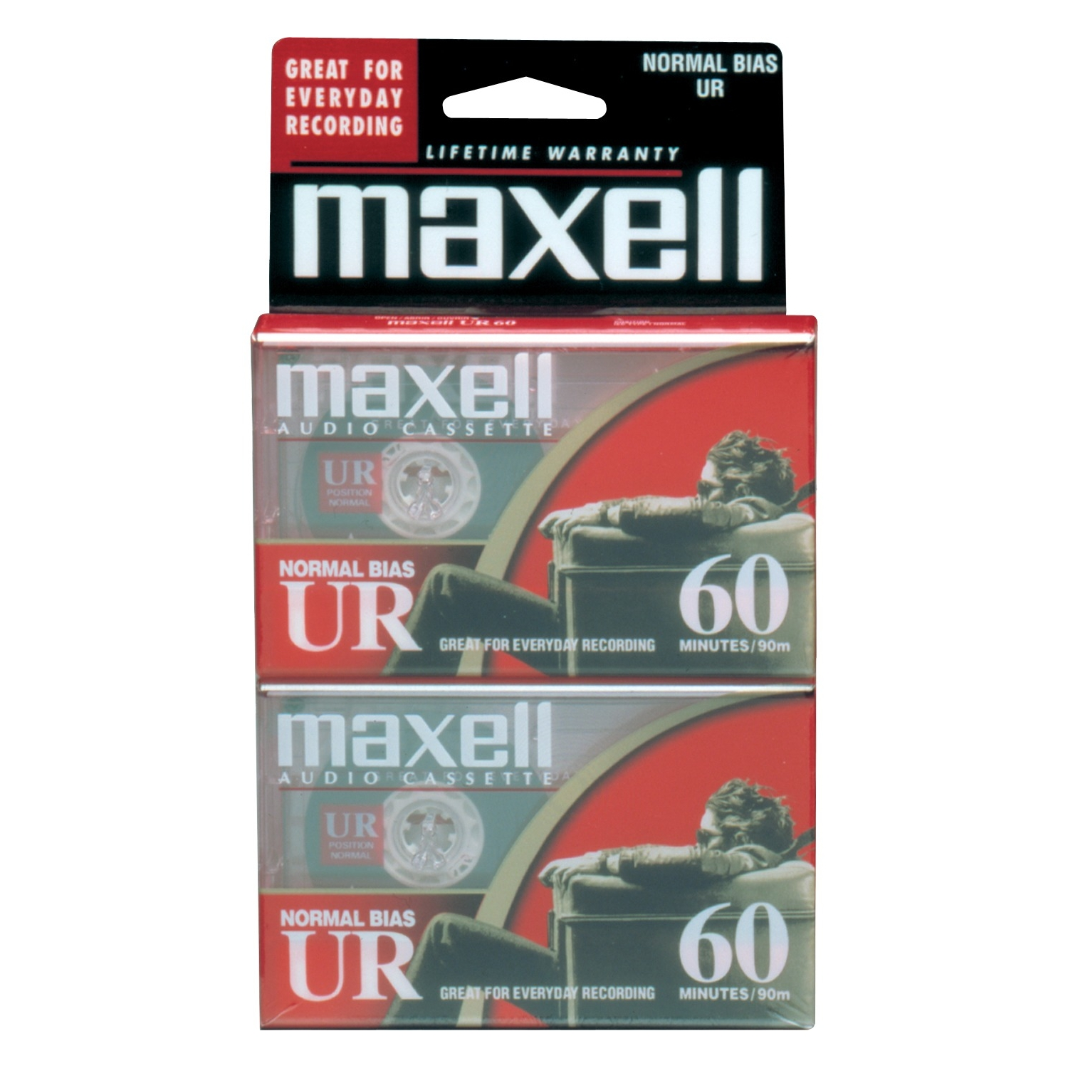 Ur-60  Blank Audio Cassette Tape 2Pk, Flat Packs