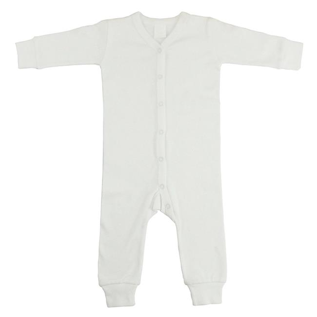 Interlock Union Suit Long Johns, White - Small - image 1 of 1