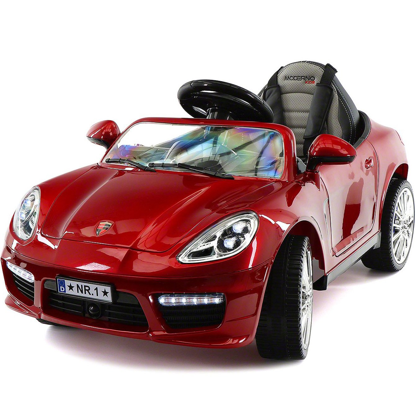 2018 Porshe Bokster Style Kids Electric Ride-On Car 12V Battery | Cherry Red Metallic