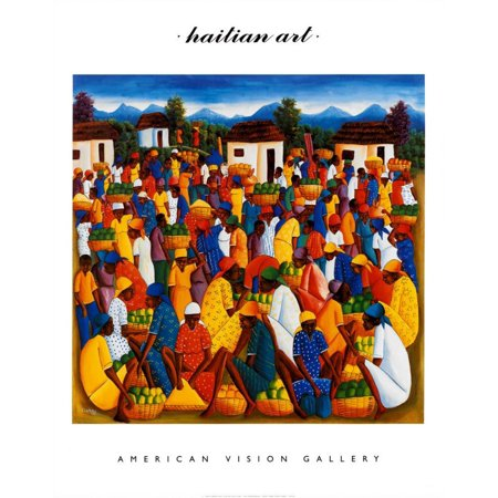 Haitian Art Art Print By Andre Pierre - 22x28