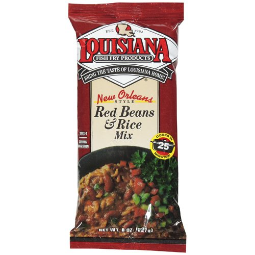Louisiana Fish Fry Louisiana  Red Beans & Rice Mix, 8 oz