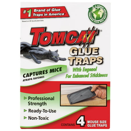 Tomcat Mouse Glue Trap w/Eugenol - Mouse Trap Boats