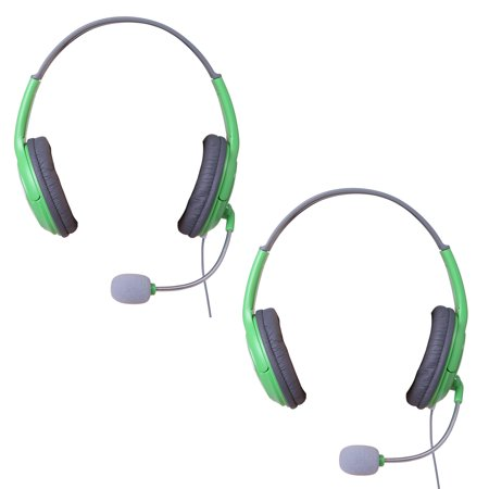 Hde 2 Pack Xbox 360 Gaming Chat Headset With Microphone For Xbox Live   Green