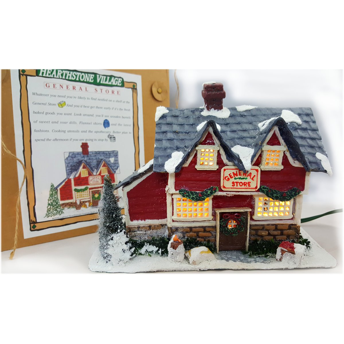 "Silvestri Hearthstone Village Collection ""White Dove Inn"" Lighted House"