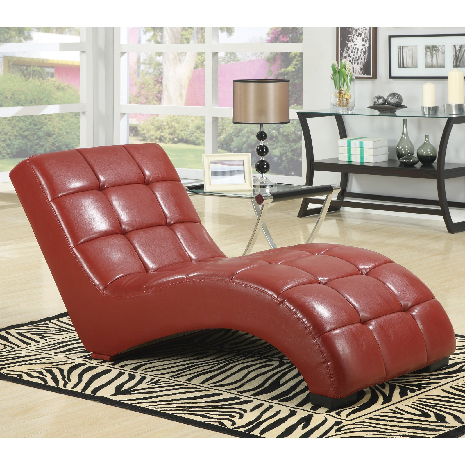 Emerald Home Lounger Chaise - Red : emerald home furnishings chaise lounge - Sectionals, Sofas & Couches