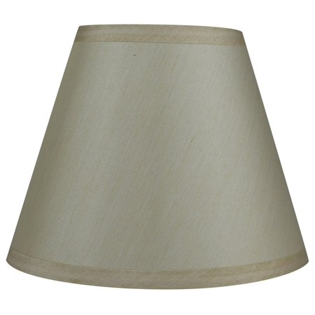 Yellow Shade (Urbanest Hardback Faux Silk Coolie Lamp Shade, 5x9x7