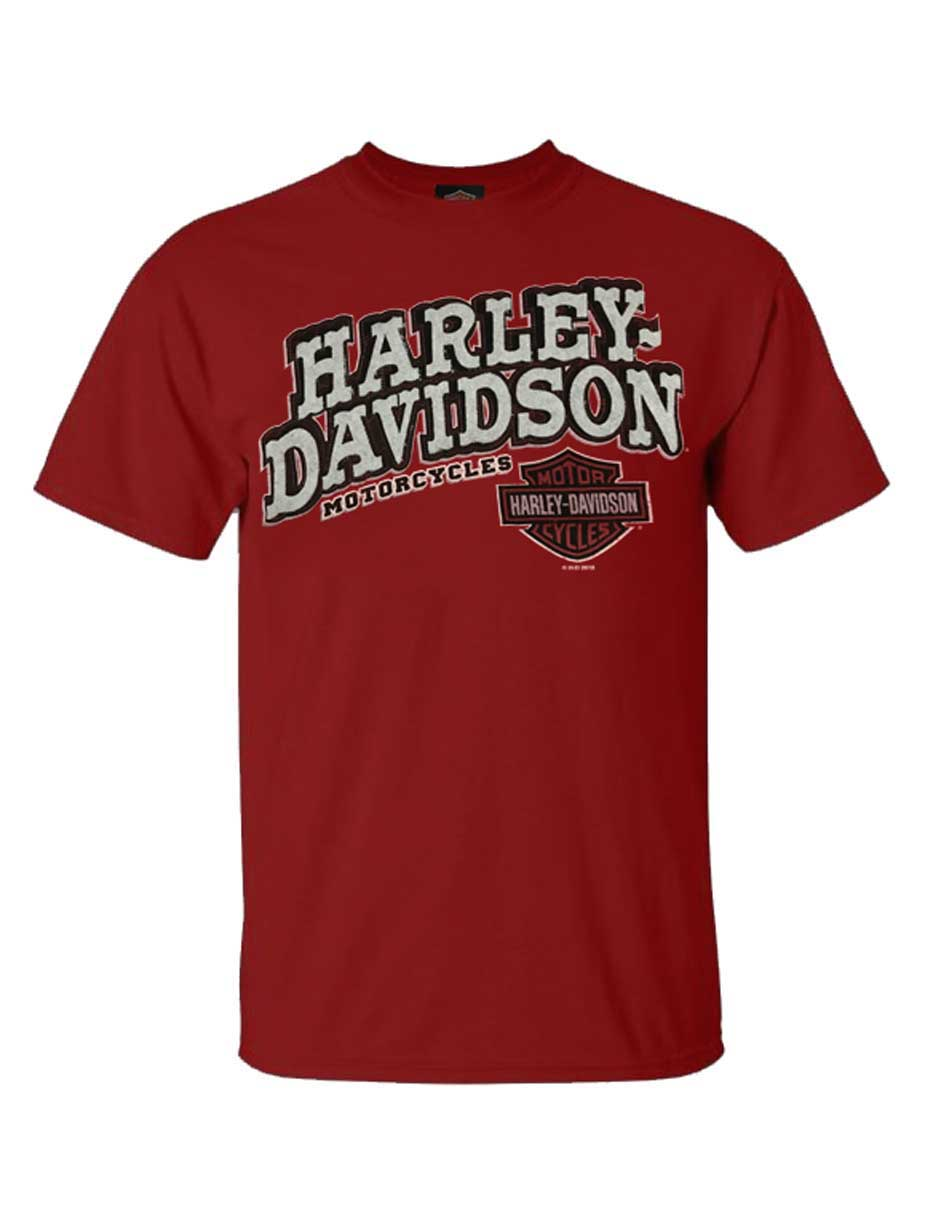 Harley Davidson Men/'s  RED CARDINAL L//S CREW NECK SWEATSHIRT