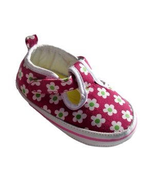 49fb15c2eafb Product Image Goldbug Infant Girls Pink Flower Canvas Tennis Shoes