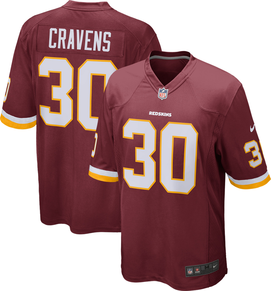 Sua Cravens Washington Redskins Nike Youth Game Jersey - Burgundy