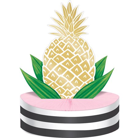 Pack of 6 Tropical Pineapple Foil Table Centerpieces 13
