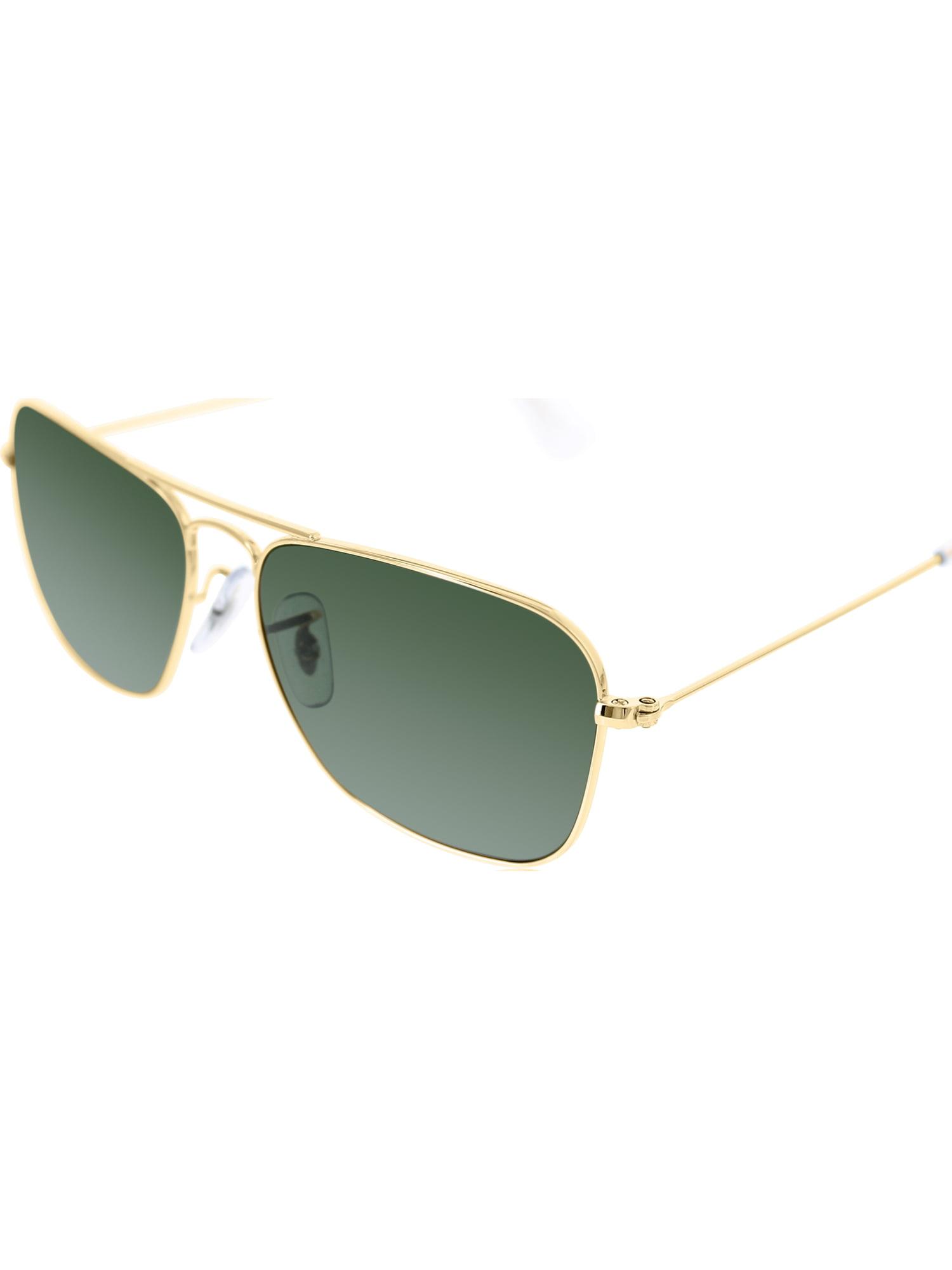 Ray-Ban Men s Caravan RB3136-001-55 Gold Square Sunglasses a054129c95