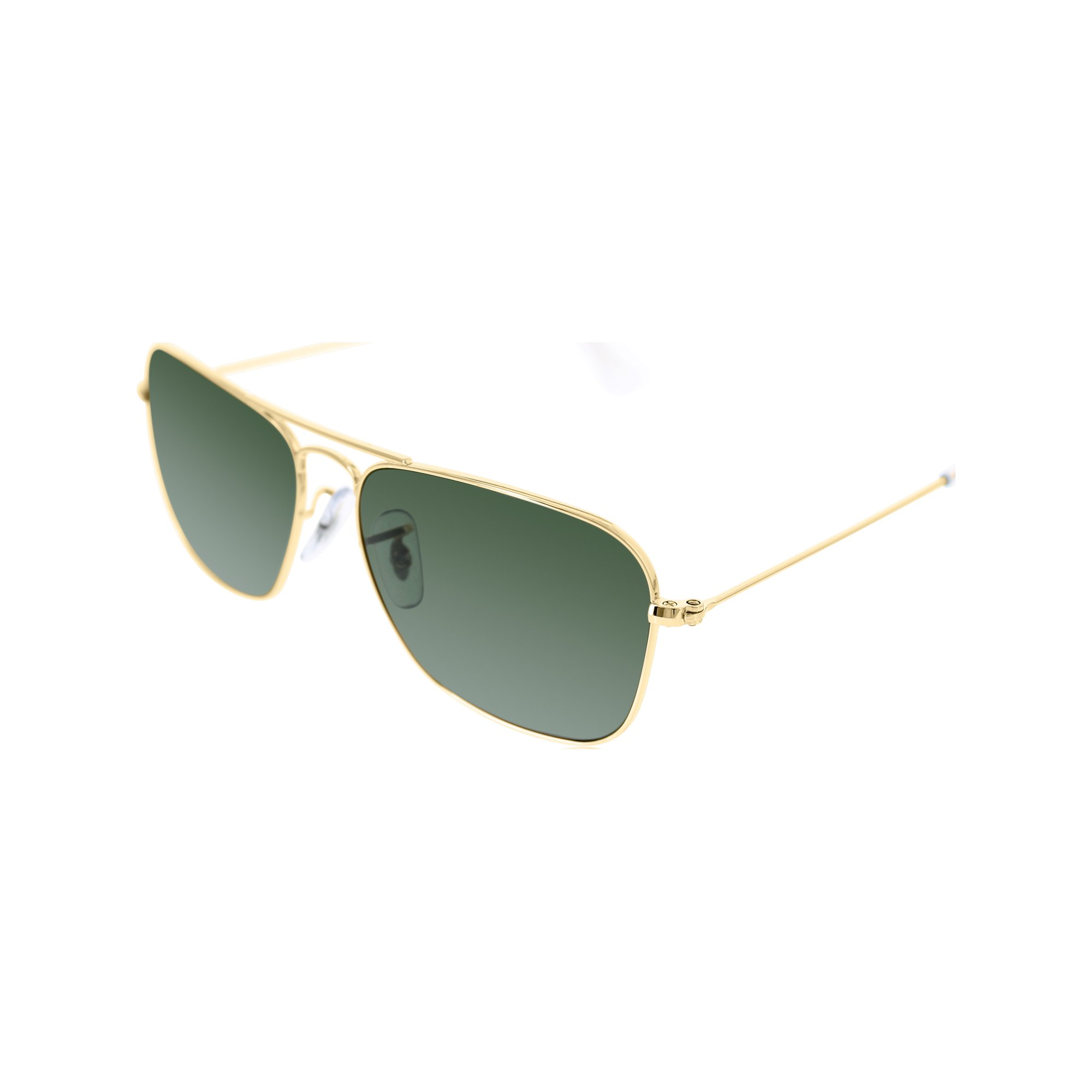 ec181b7536a0 Ray-Ban Men s Caravan RB3136-001-55 Gold Square Sunglasses