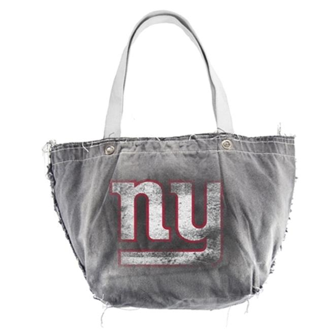 Little Earth Productions 350303-GIAN-DENM-FULL New York Giants Vintage Tote - Denim