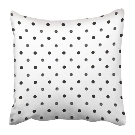 ARHOME White Simple Polka Dot Pattern with Ink of Black and Grey Shades Retro Colorful Cute Pillow Case Cushion Cover 20x20 inch