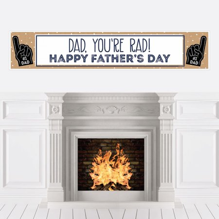 My Dad is Rad - Father's Day Decorations Party (Father's Day Banner)