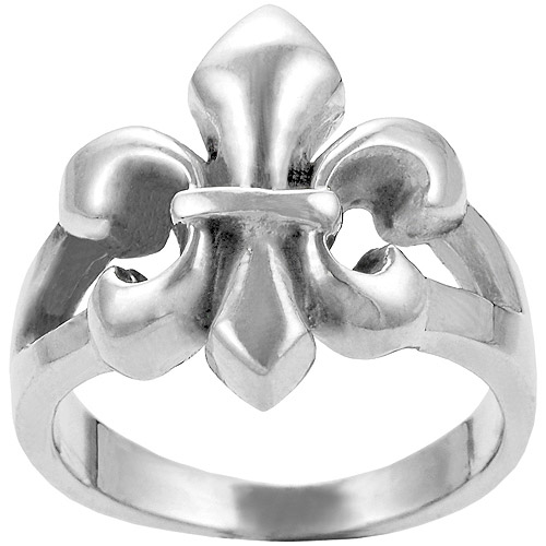 Brinley Co. Fleur De Lis Ring in Sterling Silver