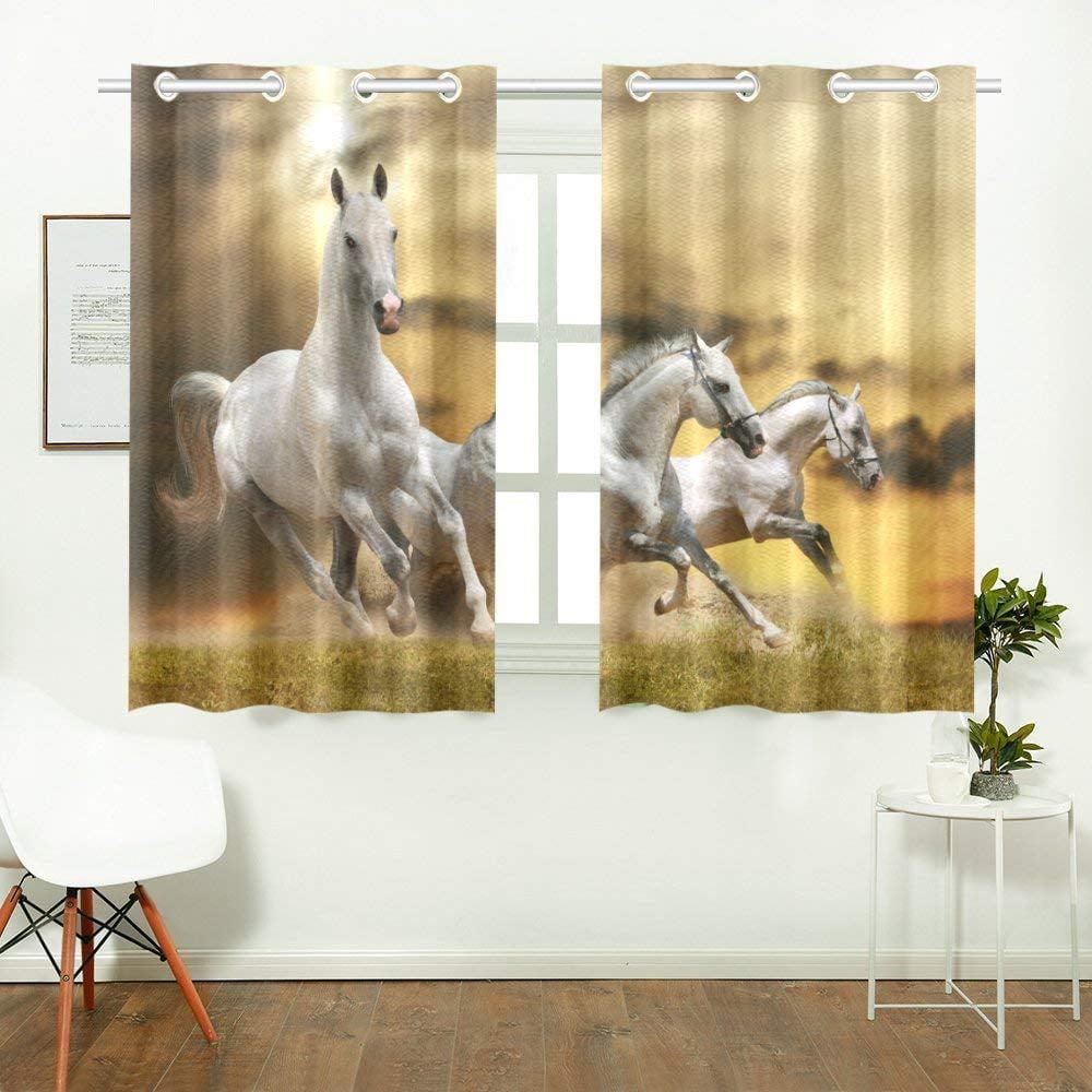 Horse Kitchen Decor: CADecor Horse Pattern Print Window Treatment Panel