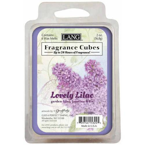LANG Lilac 2-Ounce Fragrance Cubes Scented with Garden Lilac, Jasmine and Fir