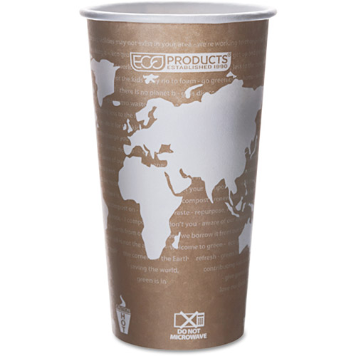 Eco-Products Hot Drink Cups, Tan, 20 oz, 50 count