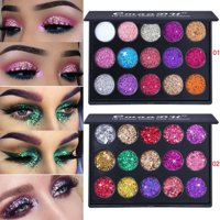 ZEDWELL 15 Colors Eyeshadow Palette Makeup Shimmer Matte Glitter Eye Shadow Cosmetic