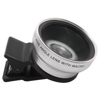 37mm HD 0.45x Super Wide Angle Macro Lens Kit Silver Tone for Cellphone Camera