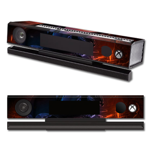 Mightyskins Protective Vinyl Skin Decal Cover for Microsoft Xbox One Kinect wrap sticker skins Fire Dragon