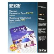 """Epson Premium Presentation Paper Matte, Double-Sided (8.5"""" x 11"""") (50 Sheets/Pkg) S041568"""