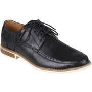 Mens Topstitched Lace-up Oxfords