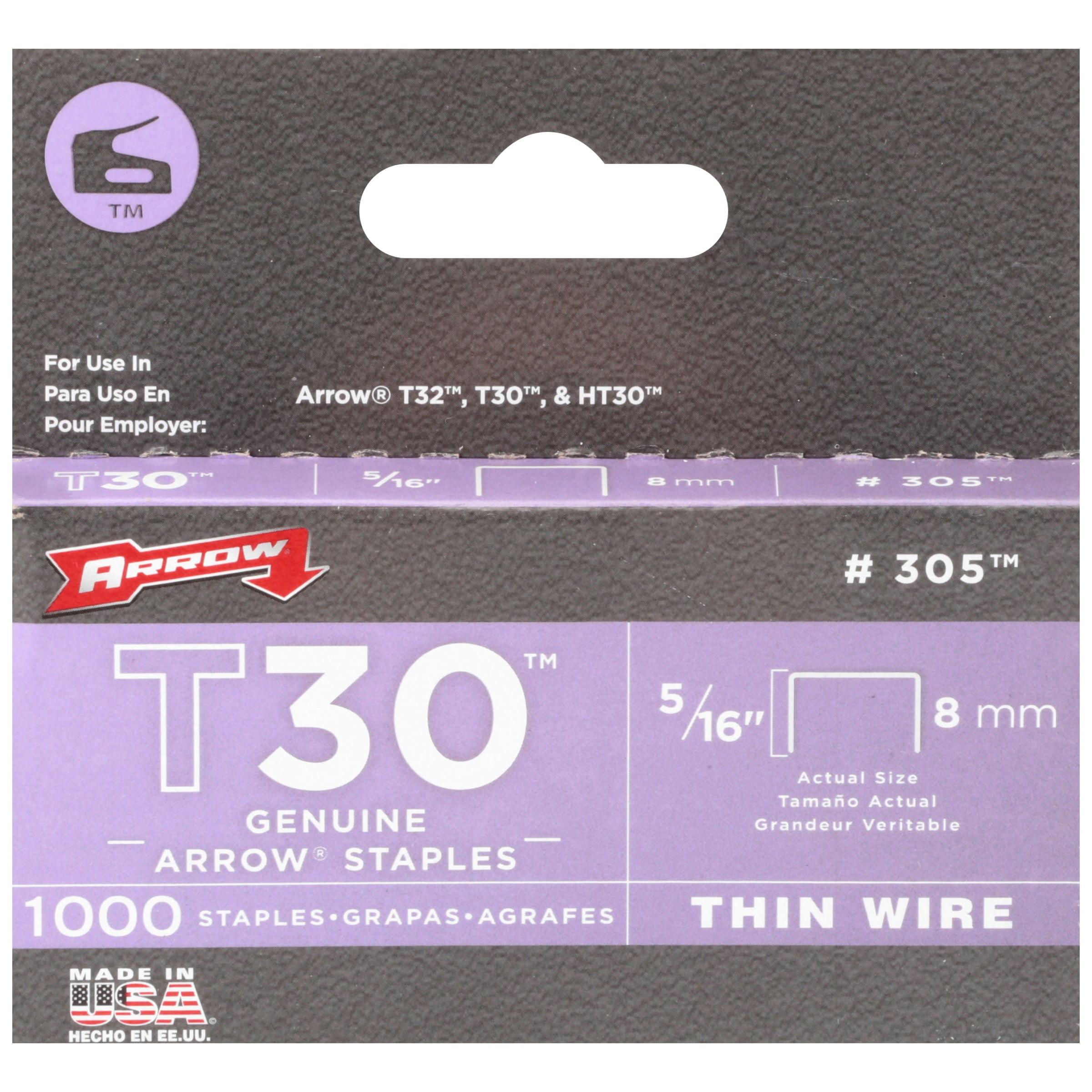 Arrow T30 Thin Wire Genuine Arrow Staples 1000 ct Box by Arrow Fastener Co., Inc.