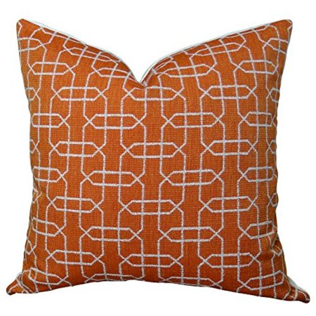 """Plutus Ardmore Persimmon Handmade Throw Pillow, (Double sided 12"""" x 20"""") - image 1 of 1"""