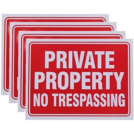 Vanitek 8 Pack Private Property No Trespassing Sign 9 x 12 Inch (12 Interstate Sign)
