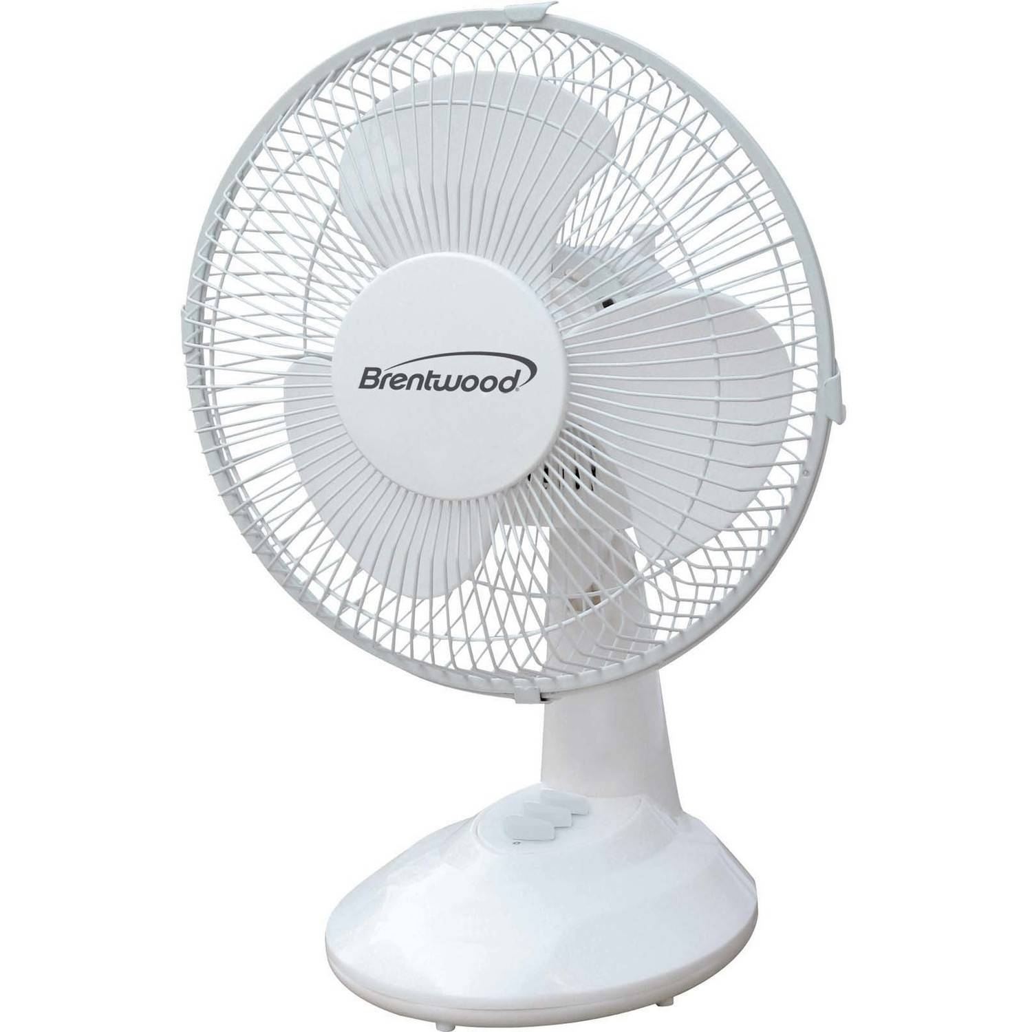 "Brentwood 9"" Oscillating Desk Fan"