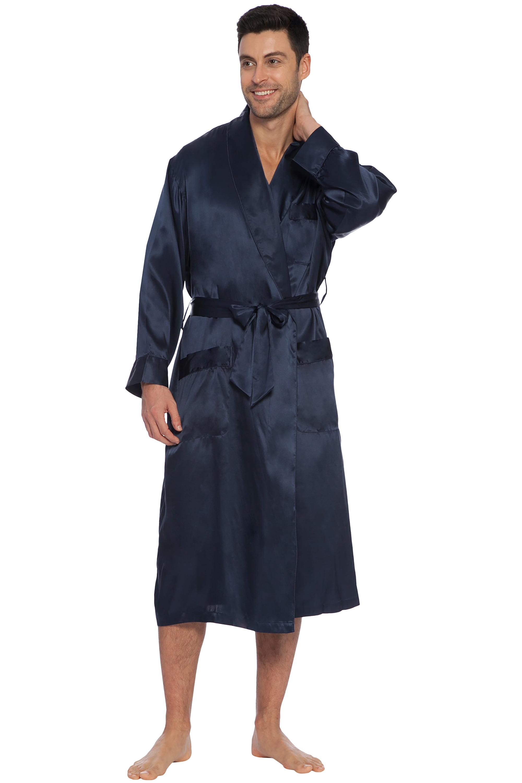 Intimo Intimo Mens Classic Silk Robe Walmart Com Walmart Com